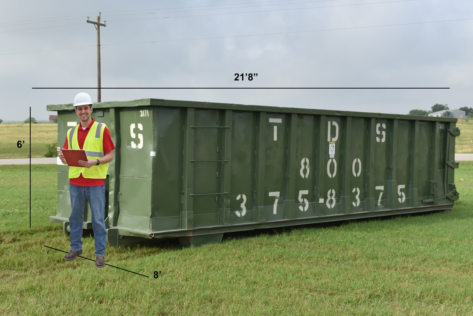 30-yard dumpster rental dimensions