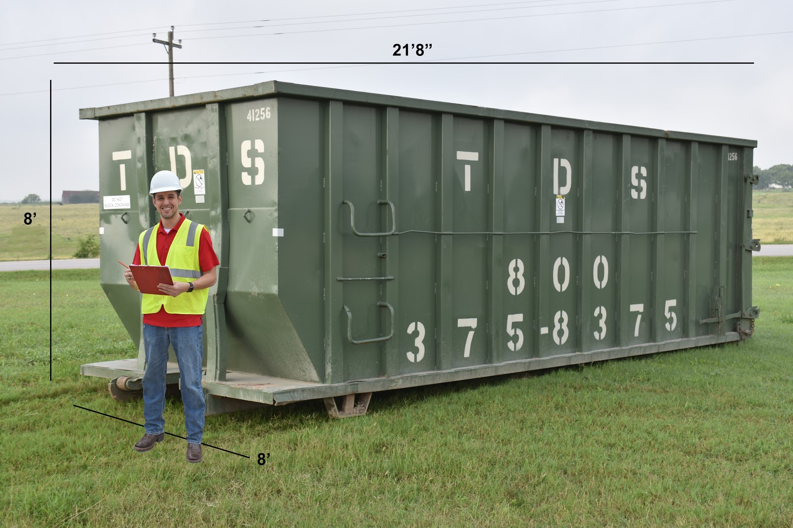 40-yard dumpster rental dimensions