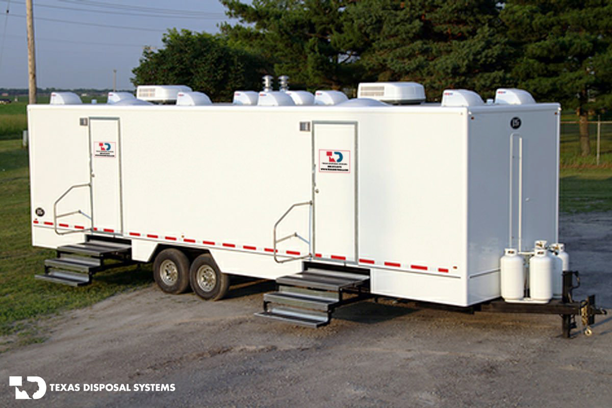Texas Disposal Systems Elite Shower Trailer