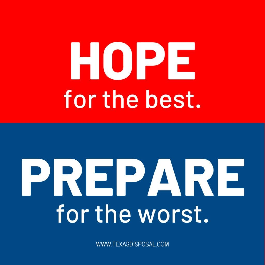 disaster relief - hope for the best, prepare for the worst